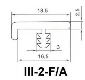 Профиль III-2-F\A F16 16мм
