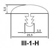 Профиль III-1-H G25 25мм