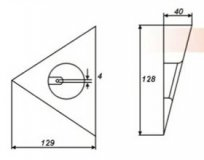 Одиночный треугольник с выключателем